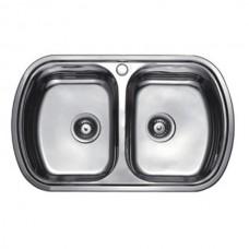 Кухонная мойка Haiba 80x49 DOUBLE Decor