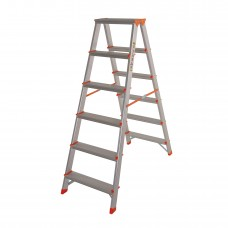 Стремянка двусторонняя алюминиевая Laddermaster Polaris A5A6. 2x6 ступенек