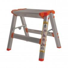 Стремянка-табурет алюминиевая Laddermaster Capella A5B2. 1 ступенька