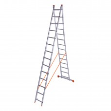 Лестница двухсекционная алюминиевая Laddermaster Sirius A2A14. 2x14 ступенек