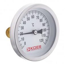 Термометр накладний з пружиною KOER KT.672A D=63мм (KR2897)