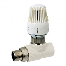 Термостатичний Кран з термоголовкою прямий PPR 25x3/4 KOER K0156.PRO (KP0199)