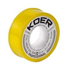 ФУМ стрічка для газу KOER STP-02 PRO 20M*0.2 мм*19mm (KR0122)