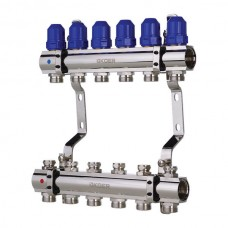 """Колекторний блок з термостатичними клапанами KOER KR.1100-06 1""""x6 WAYS (KR2632)"""