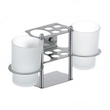 Підставка для щіток та пасти з двома склянками ZERIX LR103 (ZX2632)