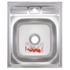 Кухонна мийка накладна ZERIXZ5060-04-160E (satin) (ZX1610)