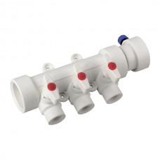 Колектор 3-way з кульовими кранами (40x20) PPR KOER K0170.PRO (KP0220)