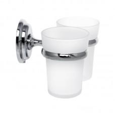 Тримач для щіток з 2 склянками настінний ZERIX LR1508 (LL1410)