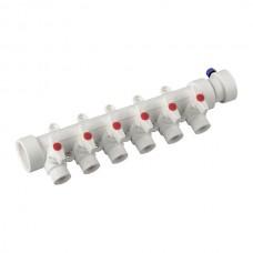 Колектор 6-way з кульовими кранами (40x20) PPR KOER K0173.PRO (KP0223)