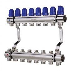 """Колекторний блок з термостатич. клапанами KOER KR.1100-08 1""""x8 WAYS (KR2634)"""
