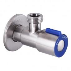 Кран для підключення сантехприборів 1/2x1/2 MIXXUS VAL-01 синій (нерж. сталь) (SS0048)