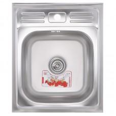 Кухонна мийка накладна ZERIXZ5060-06-160E (satin) (ZX1611)