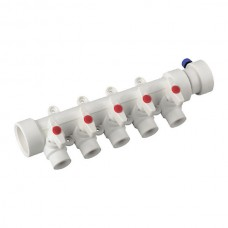 Колектор 5-way з кульовими кранами (40x20) PPR KOER K0172.PRO (KP0222)
