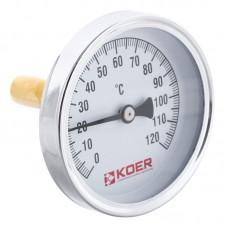 """Термометр аксіальний з занурювальний гільзою KOER KT.671A D=63мм 1/2"""" (KR2899)"""