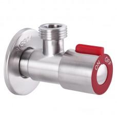Кран для підключення сантехприборів 1/2x1/2 MIXXUS VAL-02 червоний (нерж. сталь) (SS0049)
