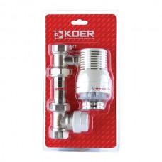"""Комплект для підключення радіатора 1/2"""" (прямий) з термоголовкою KR.1321 (KR2659)"""