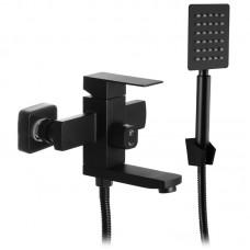Змішувач для ванни MIXXUS KUB-009 чорний (з нерж. сталі) (MI2812)