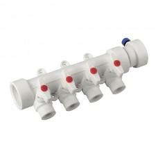 Колектор 4-way з кульовими кранами (40x20) PPR K0171.PRO (KP0221)