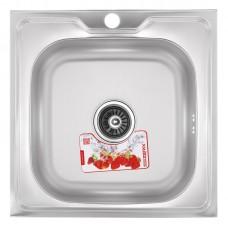 Кухонна мийка накладна ZERIXZ5050-06-160E (satin) (ZX1609)