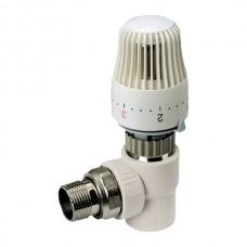 Термостатичний Кран з термоголовкою кутовий 20x1/2 PPR KOER K0153.PRO (KP0195)