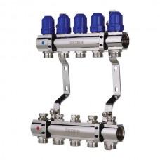 """Колекторний блок з термостатич. клапанами KOER KR.1100-05 1""""x5 WAYS (KR2631)"""