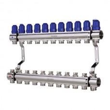 """Колекторний блок з термостатичними клапанами KOER KR.1100-11 1""""x11 WAYS (KR2637)"""