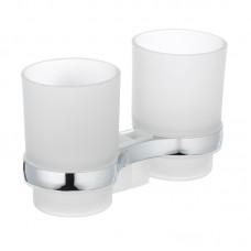 Тримач для щіток з 2 склянками настінний ZERIX LR3308 (LL1439)